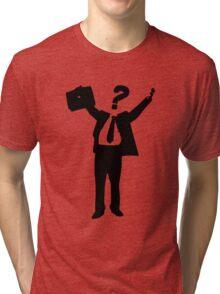 Question Man Tri-blend T-Shirt