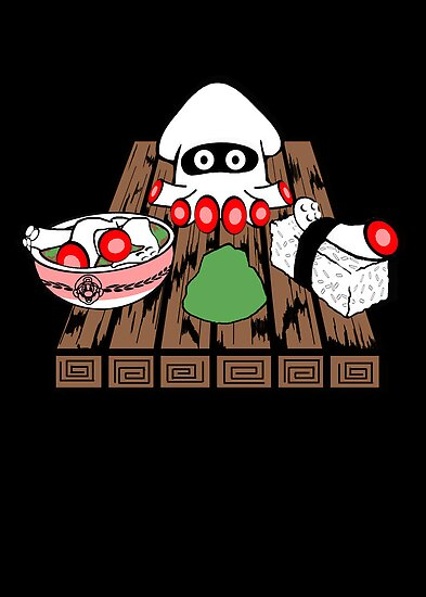 Blooper Sushi is what's for dinner by scribbleworx