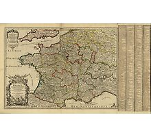 Le royaume de France [The Kingdom of France] Map (1724) Photographic Print