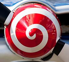 Aircraft propeller abstract red swirl by Martyn Franklin