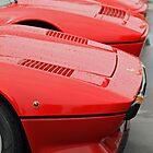 Red Ferraris in the Rain by tonyshaw