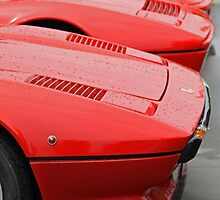 Red Ferraris in the Rain by tonyshaw