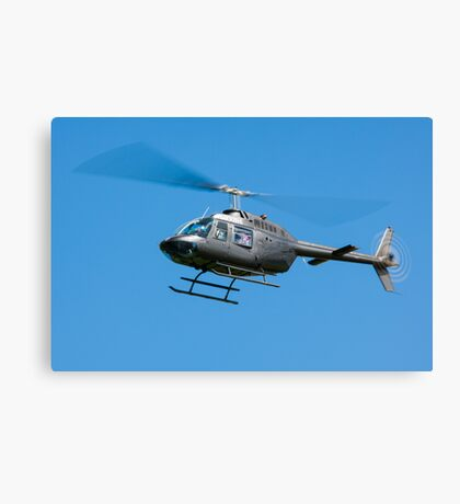 Bell Jet Ranger helicopter Canvas Print