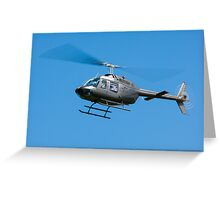 Bell Jet Ranger helicopter Greeting Card