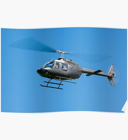 Bell Jet Ranger helicopter Poster