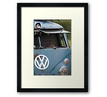 VW split screen camper van  Framed Print