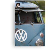 VW split screen camper van  Canvas Print