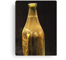 Old Bottle with Ornaments  VRS2 Canvas Print