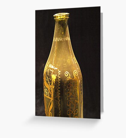 Old Bottle with Ornaments  VRS2 Greeting Card