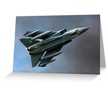 Tornado figter jet Greeting Card
