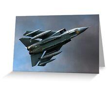 Tornado figter jet Greeting Card