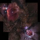 Orion's Nebulas Incomplete Mosaic by astrochuck