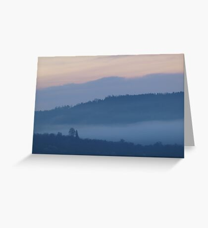 Mist in the Early Morning Valley  VRS2 Greeting Card