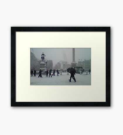 Travalgar in the Snow. Framed Print