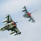 Tornado fighter jets in after burner by Martyn Franklin