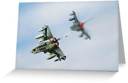 Tornado fighter jets in after burner by Martyn Franklin