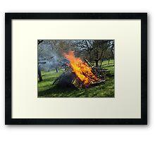 Spring Bonfire  VRS2 Framed Print