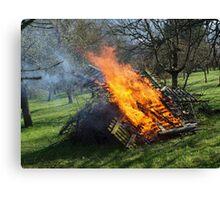 Spring Bonfire  VRS2 Canvas Print