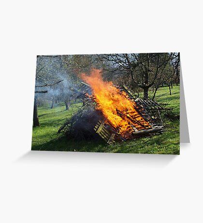 Spring Bonfire  VRS2 Greeting Card