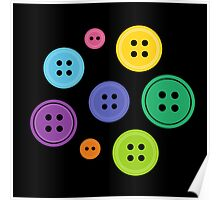 Rainbow Buttons Poster