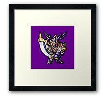 Buster Blader Icon - Yugioh! Framed Print
