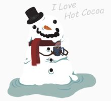 Snowman Who Loves Hot Cocoa Baby Tee
