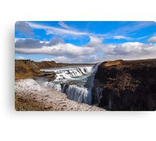 Gullfoss - Iceland Waterfall Canvas Print