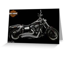 Harley Davidson Dyna  Greeting Card