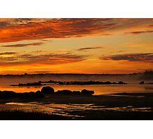Seasmoke at Dawn Photographic Print