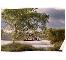Captain Proud Paddle Steamer - Swanport, Murray Bridge, SA Poster