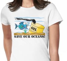 Earth Day Save Our Oceans Womens Fitted T-Shirt