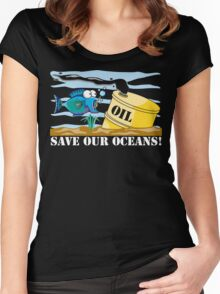 Save Our Oceans Earth Day Women's Fitted Scoop T-Shirt