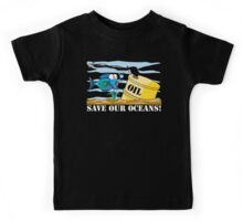 Save Our Oceans Earth Day Kids Tee