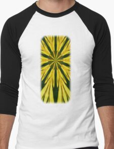 Colorful Yellow And Green Abstract Kaleidoscope Design T-Shirt