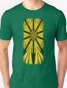Colorful Yellow And Green Abstract Kaleidoscope Design Unisex T-Shirt