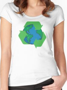 Recycle Earth Day Women's Fitted Scoop T-Shirt
