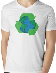 Recycle Earth Day Mens V-Neck T-Shirt