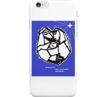 Holiday Greeting with Holy Family and Star iPhone Case/Skin