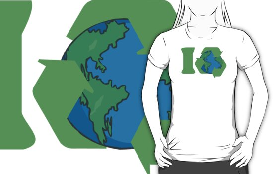 I Recycle Earth Day by HolidayT-Shirts