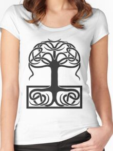 The World Tree, Yggdrasil Women's Fitted Scoop T-Shirt