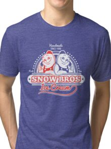 Snow Bros Ice Cream Tri-blend T-Shirt