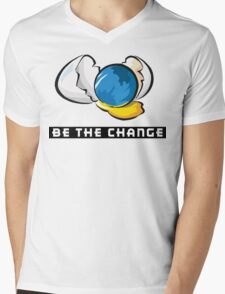 Earth Day Be The Change Mens V-Neck T-Shirt