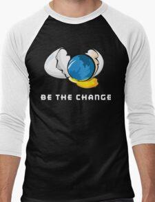 Be The Change Earth Day Men's Baseball ¾ T-Shirt