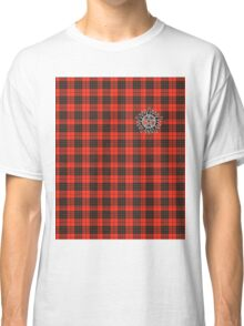 Supernatural Anti-possession symbol on PLAID in RED Classic T-Shirt