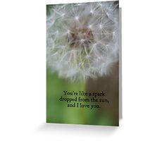 Sun Spark Card Greeting Card
