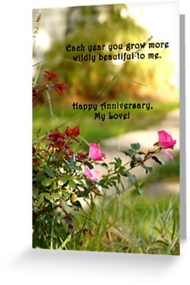 Wild Beauty Anniversary Card by cardsforyou
