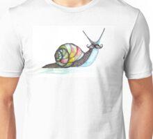 Funky Moustache Snail Unisex T-Shirt
