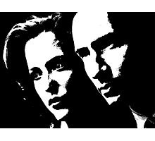 X files mulder & scully Photographic Print