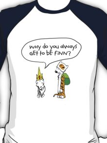 Calvin and Hobbe's Adventure Time T-Shirt