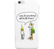 Calvin and Hobbe's Adventure Time iPhone Case/Skin